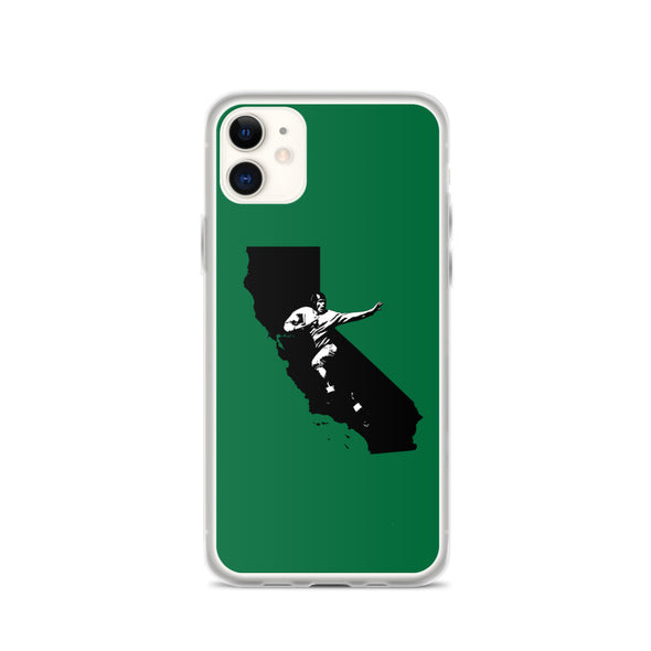 California Football, Solid Green iPhone Case; Football Phone Cases