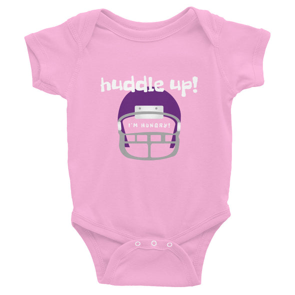 Huddle Up I'm Hungry Football Baby Onesie