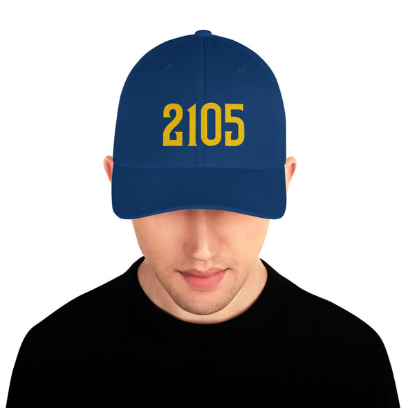 2105 Yards Football Hat in Honor of Eric Dickerson, single season rushing leader, fitted hat