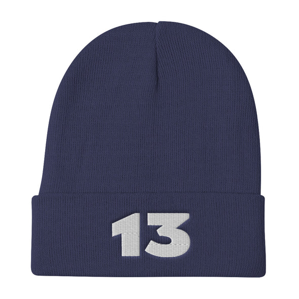 Customized Football Jersey Number Embroidered Beanie