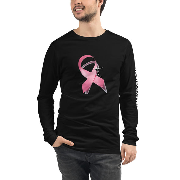 Gridiron Icon Breast Cancer Awareness Unisex Long Sleeve Football Tee