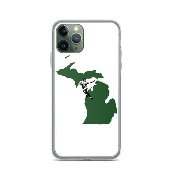 Michigan Football Green & White iPhone Case