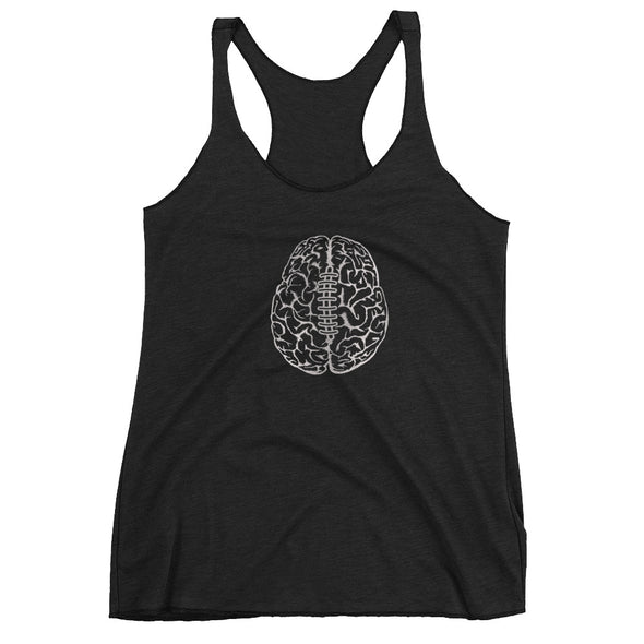 Football on the Brain Women's Racerback Tank