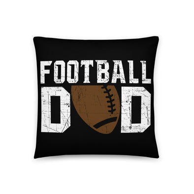 Football Dad Man Cave Throw Pillow