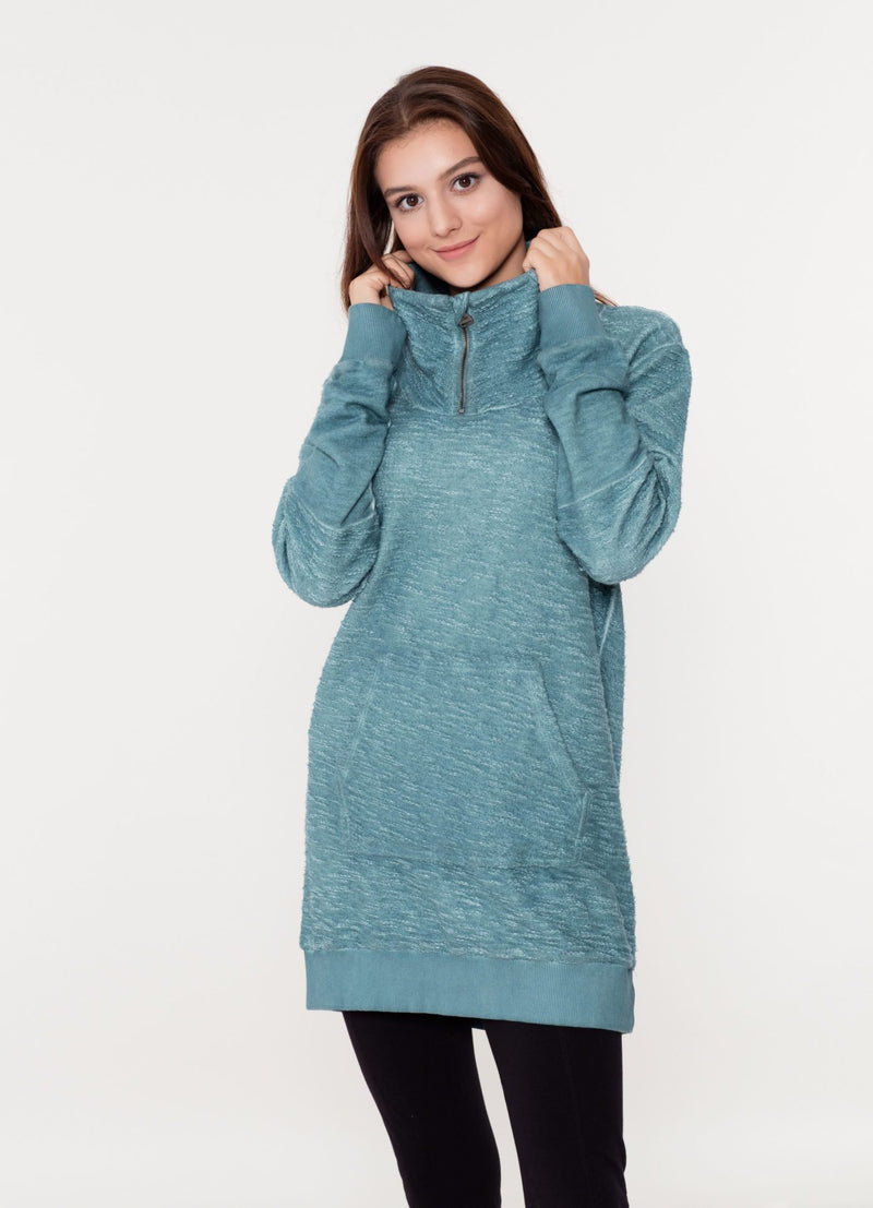 Garment Dyed Tunic Sweat aus Bio-Baumwolle