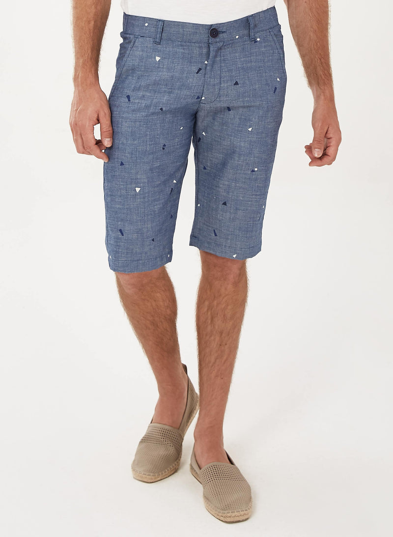 Shorts aus Bio-Baumwolle in Denim-Optik