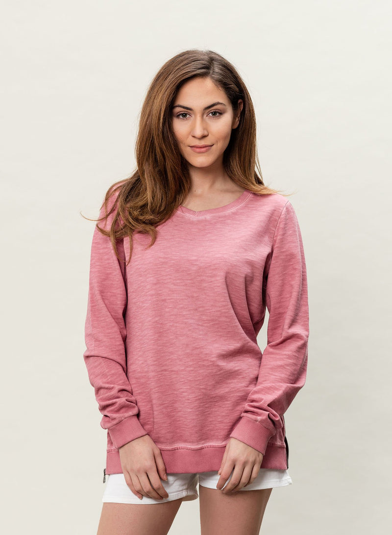 Damen Garment Dyed Sweatshirt