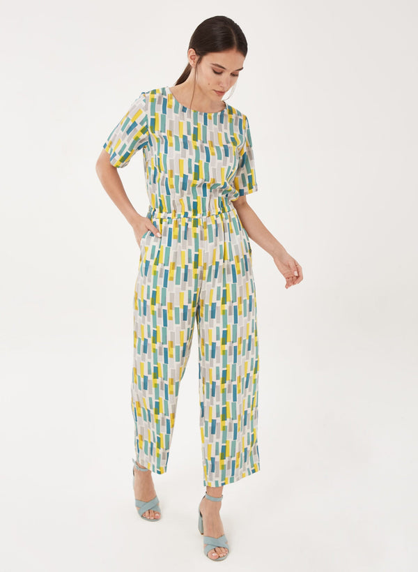 Jumpsuit aus Tencel™ mit Allover-Print