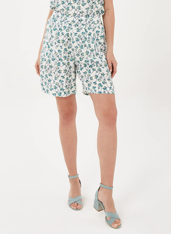 Shorts aus Tencel™ mit Allover-Print | Eco Damenmode