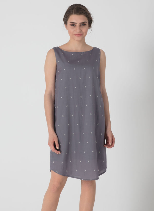 Allover Print Kleid aus Tencel™
