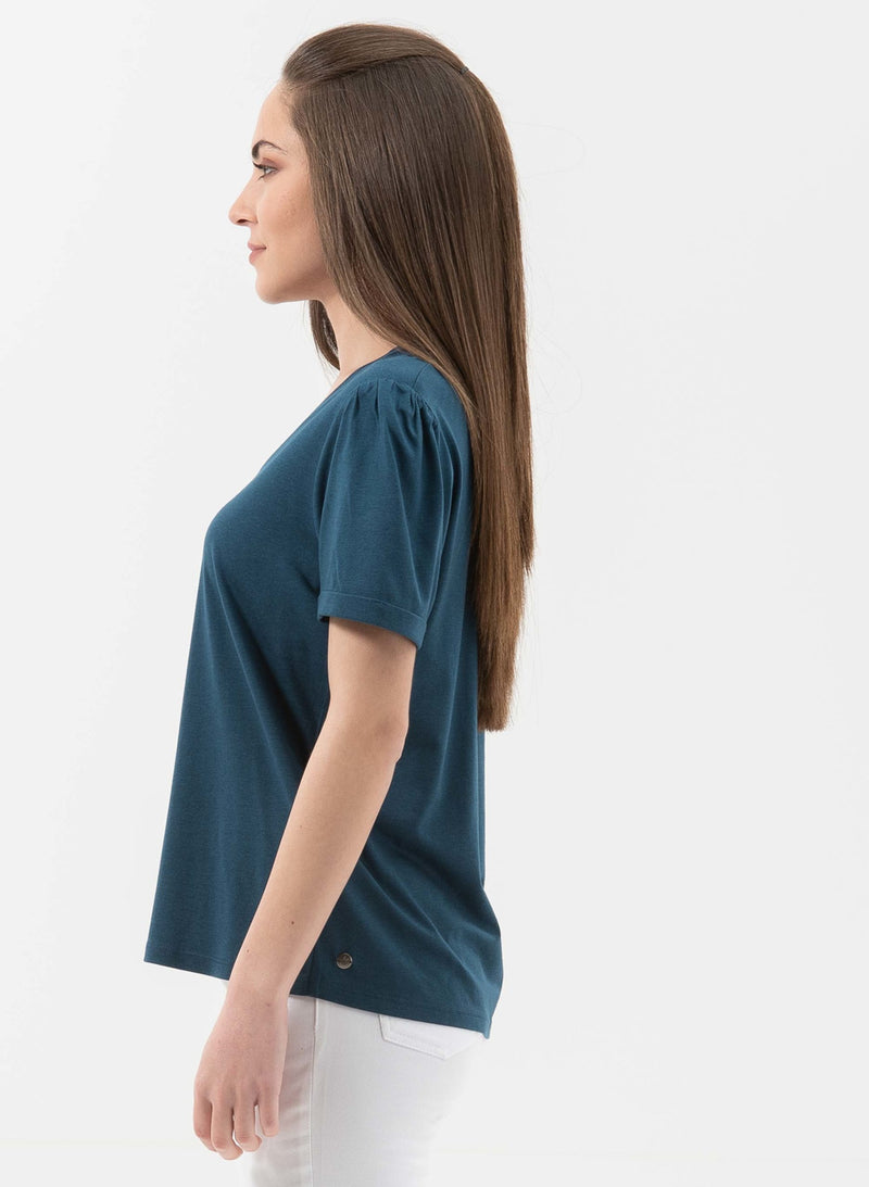 T-Shirt aus Tencel™- Bio-Baumwolle-Mix