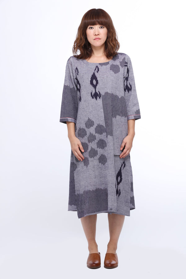 Blue Drizzle A-line Dress