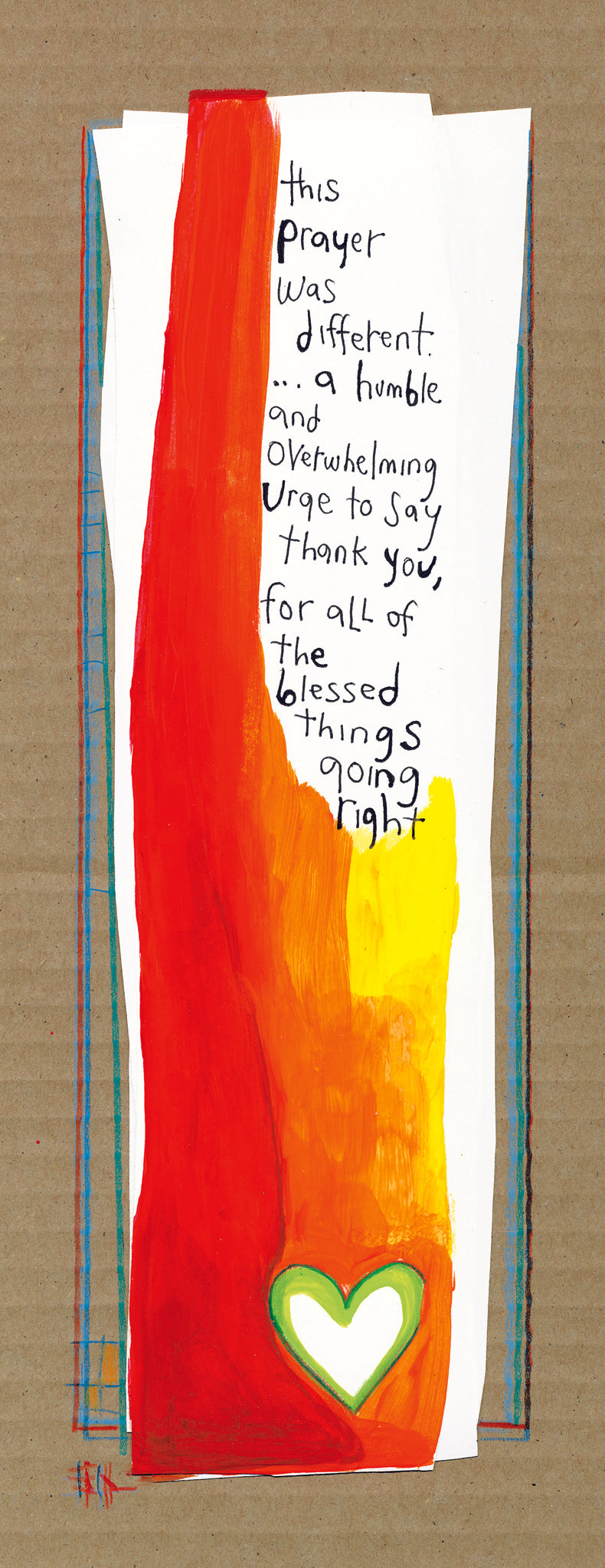 Giving Thanks 7 x 15 Matted Print