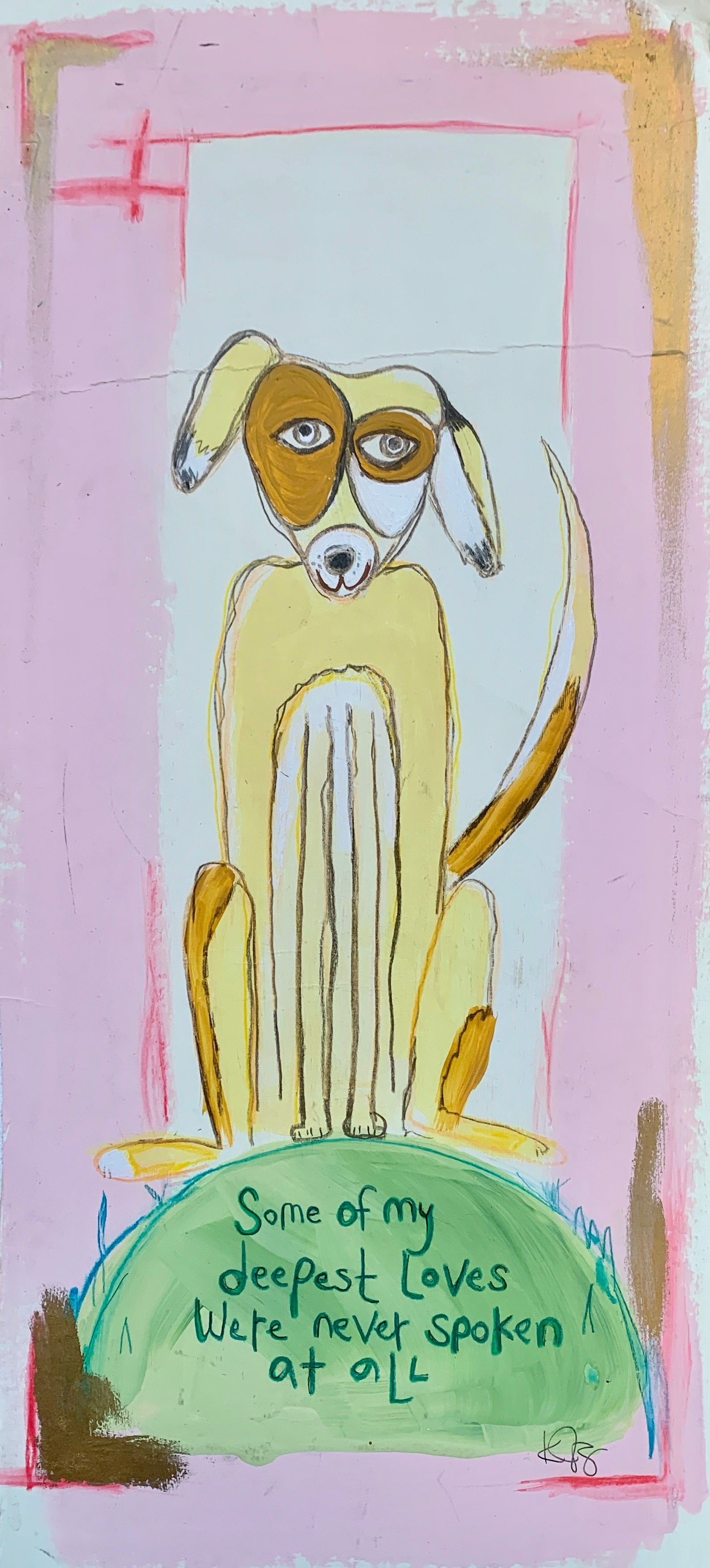 Original Work-  Deepest Love Dog *Sold