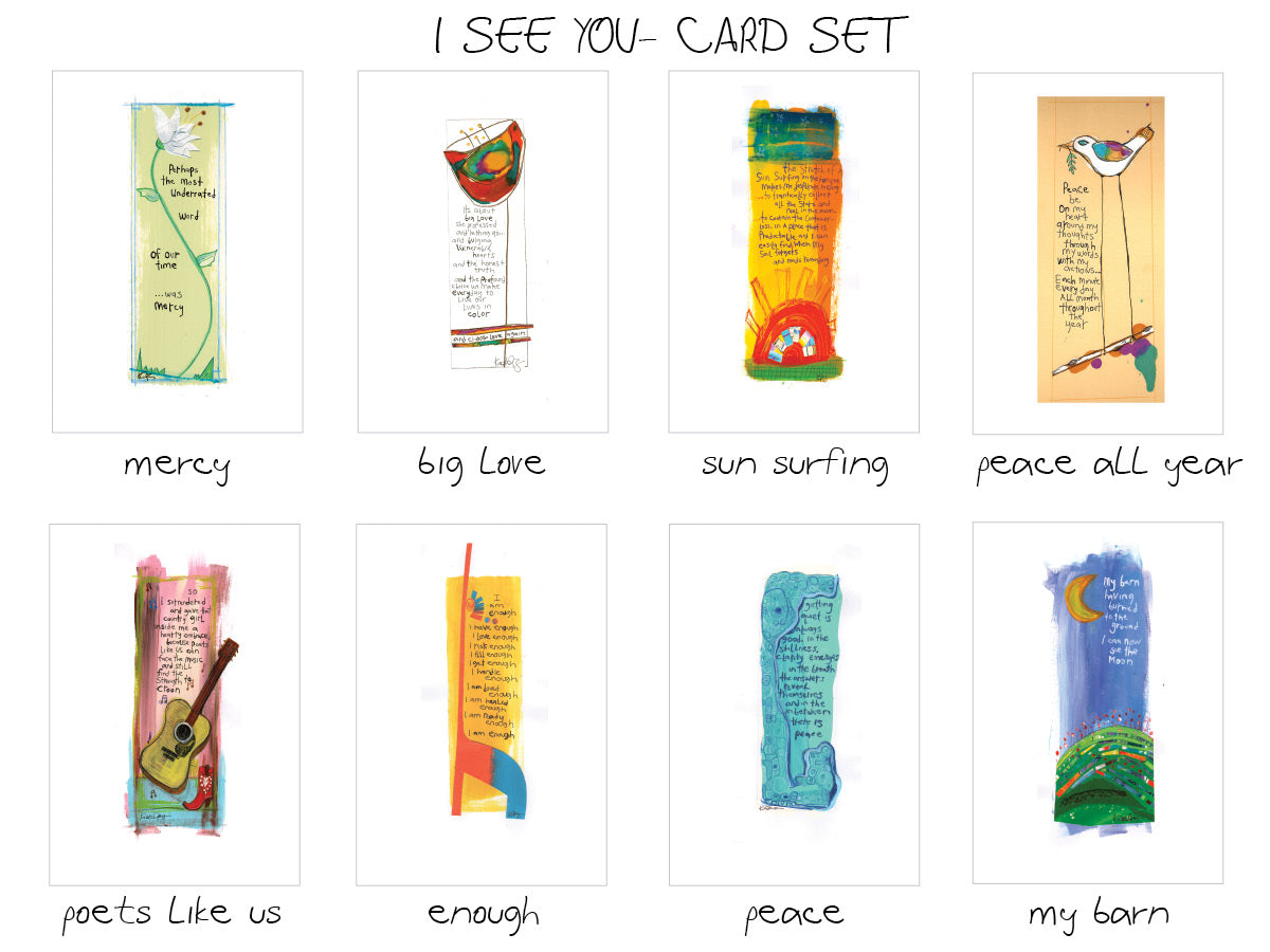 I SEE YOU- 8 piece Card Set