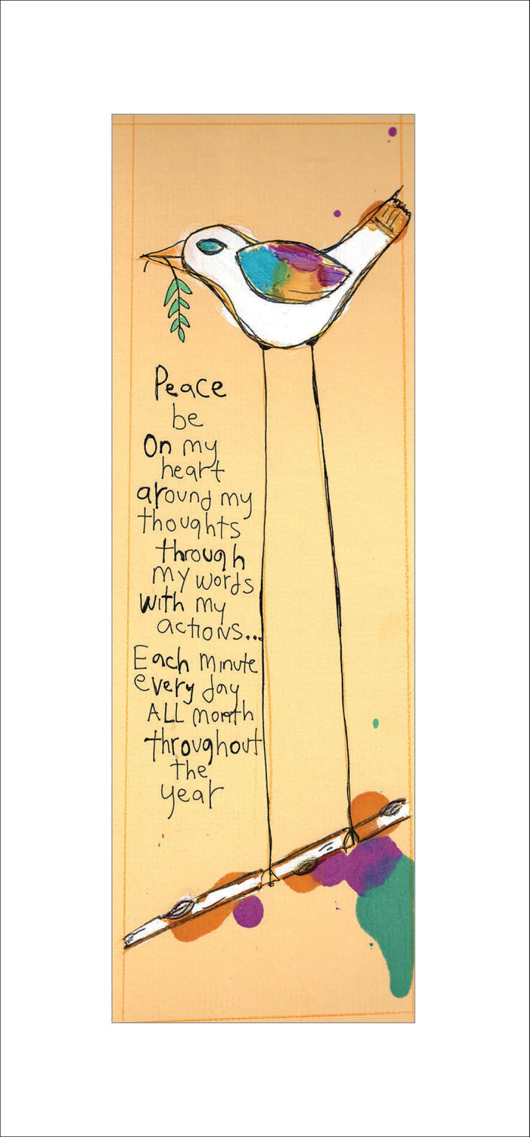 Peace All Year Greeting Card