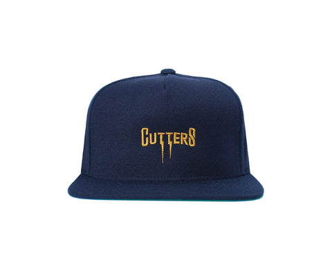 "Our Rosewood Cutters ""Striker"" snapback with low resolution embroidery."