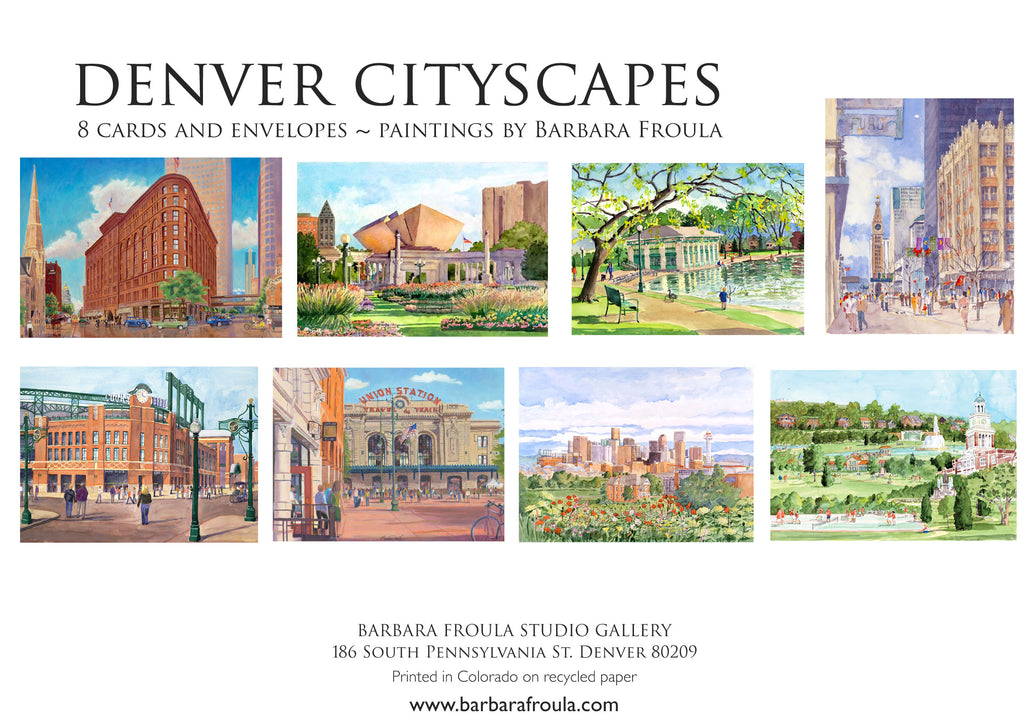 Box of 8 Assorted Denver Notecards