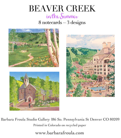 Box of 8 Assorted Beaver Creek Summer notecards