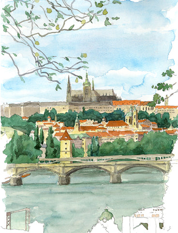 Prague Castle from Vysehrad