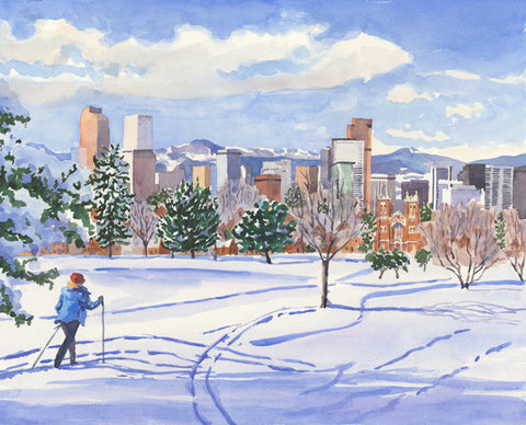 City View in Snow