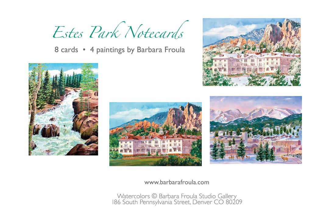 Box of 8 Assorted Estes Park notecards