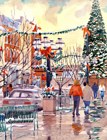 Larimer Square in the Snow