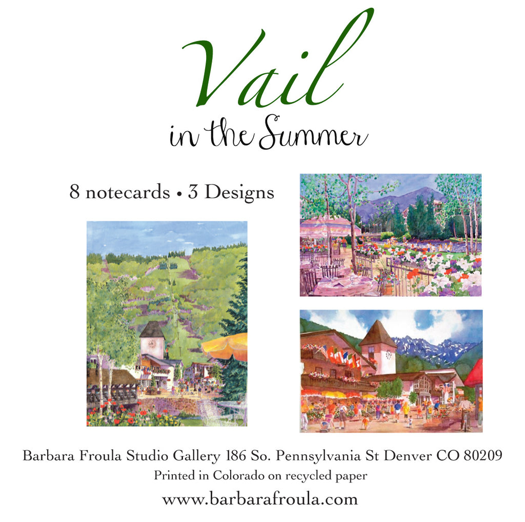 Box of 8 Assorted Vail Summer notecards