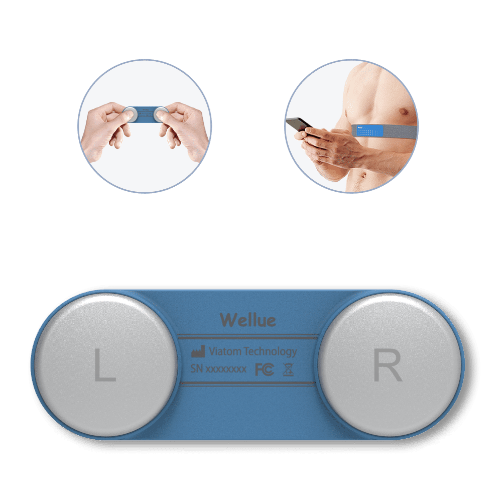 Wellue DuoEK Hand-held EKG Monitor Wearable ECG Monitor