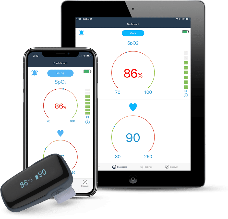 Wellue Oxylink Wearable Pulse Oximeter with Audio Alarm