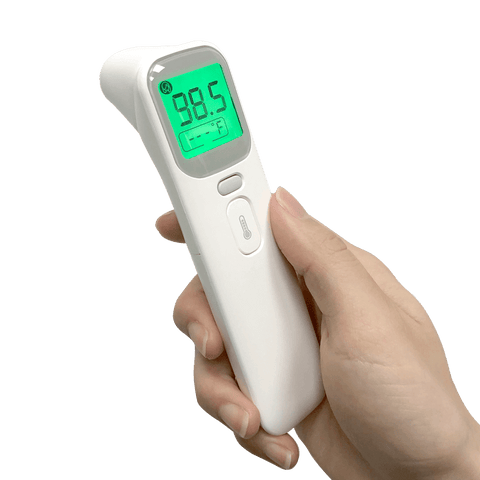 Thermomètre infrarouge frontal et auriculaire