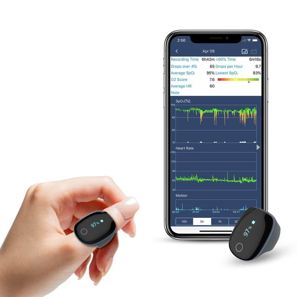 wellue o2ring wearable oxygen monitor