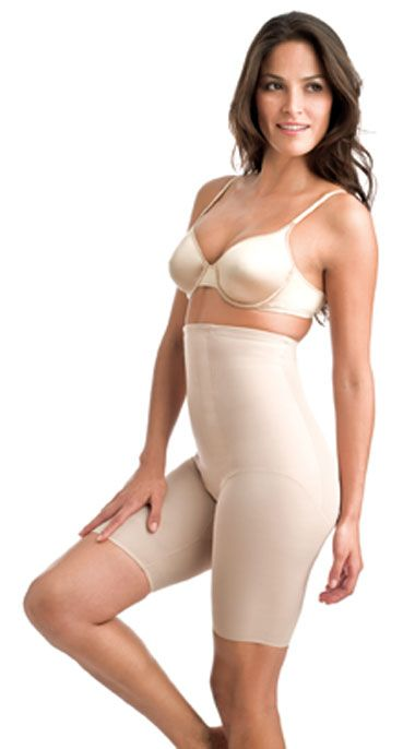 Miraclesuit Hi Waist Thigh Slimmer, Nude
