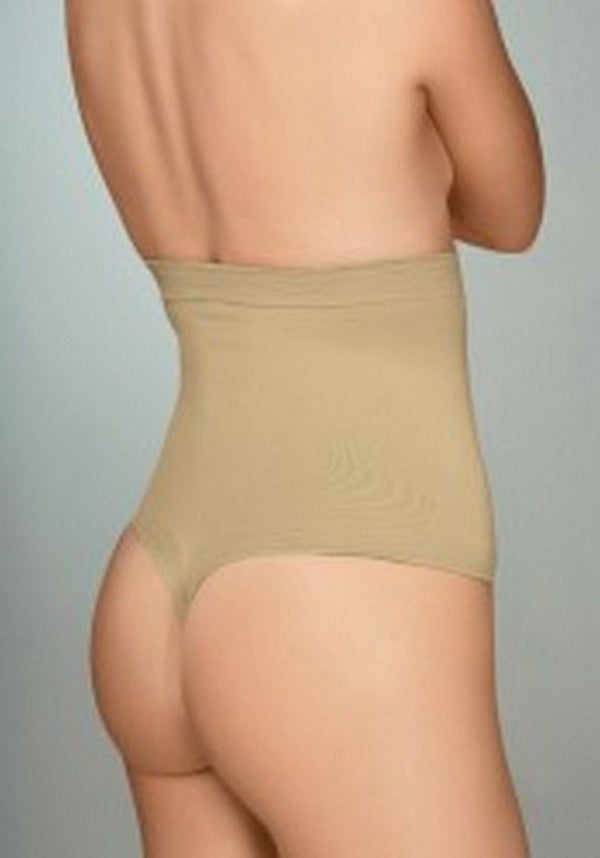 Plie Control Shaping Thong High Waist Firm Support, Nude