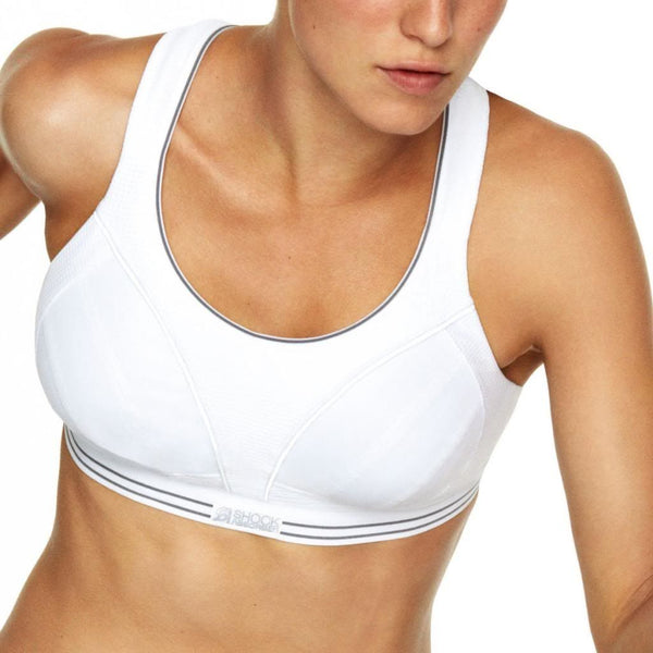 Shock Absorber Ulitmate Run Bra, White