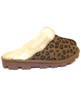 Ladies Marni Slippers Dark Brown, Leopard