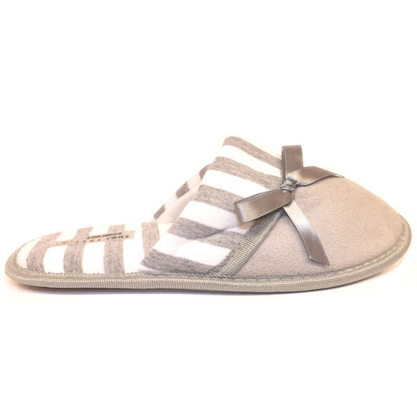 Ladies Slippers Caramel, Grey