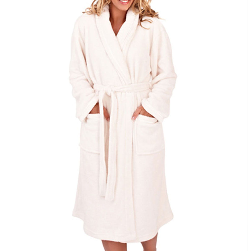 Women's Full Length Bathrobe, Cream
