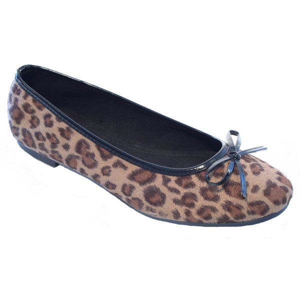 Flat Bow Ballet Pumps Leopard Shoes