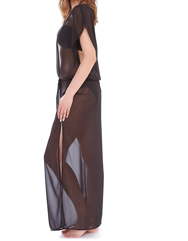 Freya Diva Plunge Neck Maxi Dress, Black