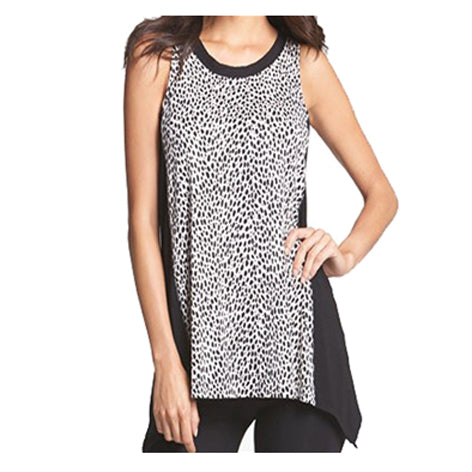 DKNY Drop Hem Vest, Animal