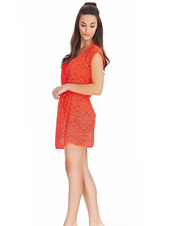Freya Sundance Cross Over Dress, Orange Fizz