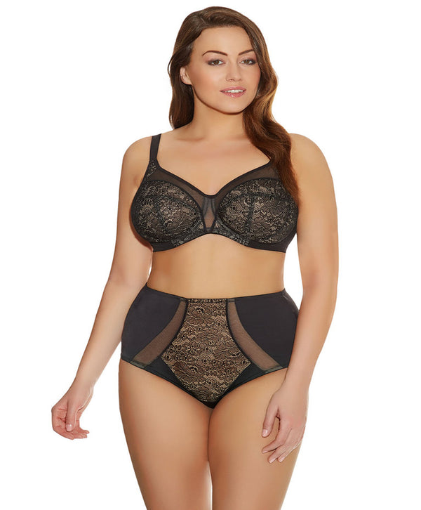 Elomi Raquel Briefs Underwear, Black