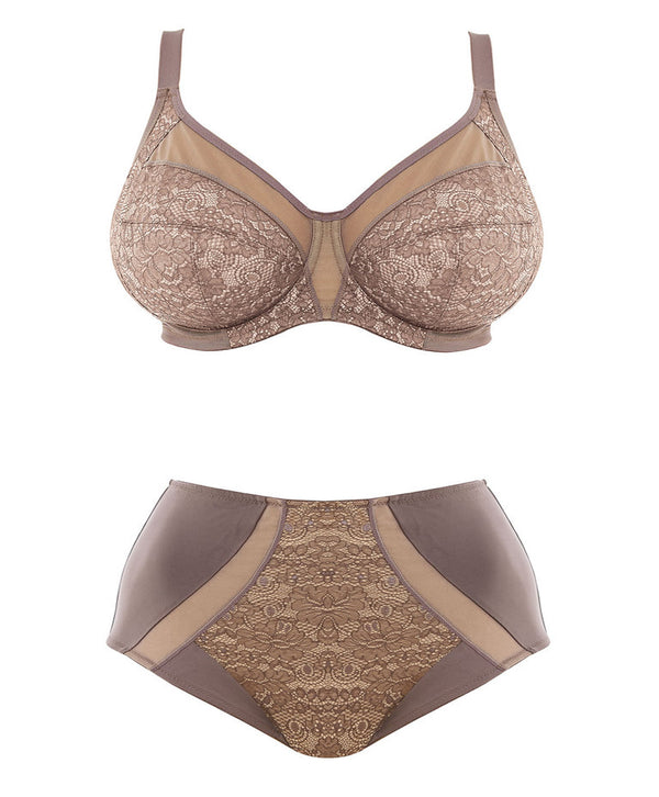 Elomi Raquel Underwire Full Cup Banded Bra, Taupe