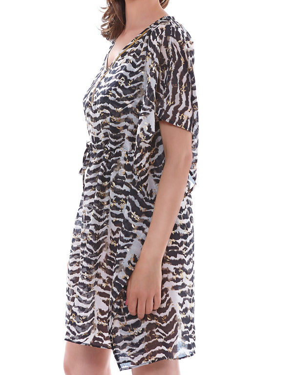 Fantasie Milos Kaftan, Black and Cream