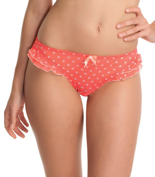 Freya Patsy Sheer Knickers Brief, Coral