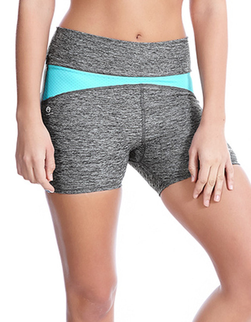 Freya Active Reflective Speed Fitted Short, Carbon Grey