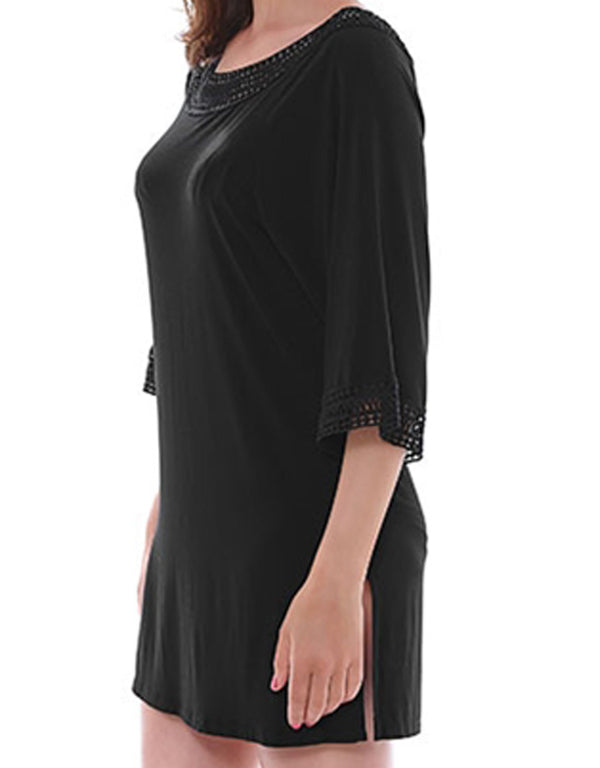 The Fantasie Maia Crochet Trim Tunic, Black