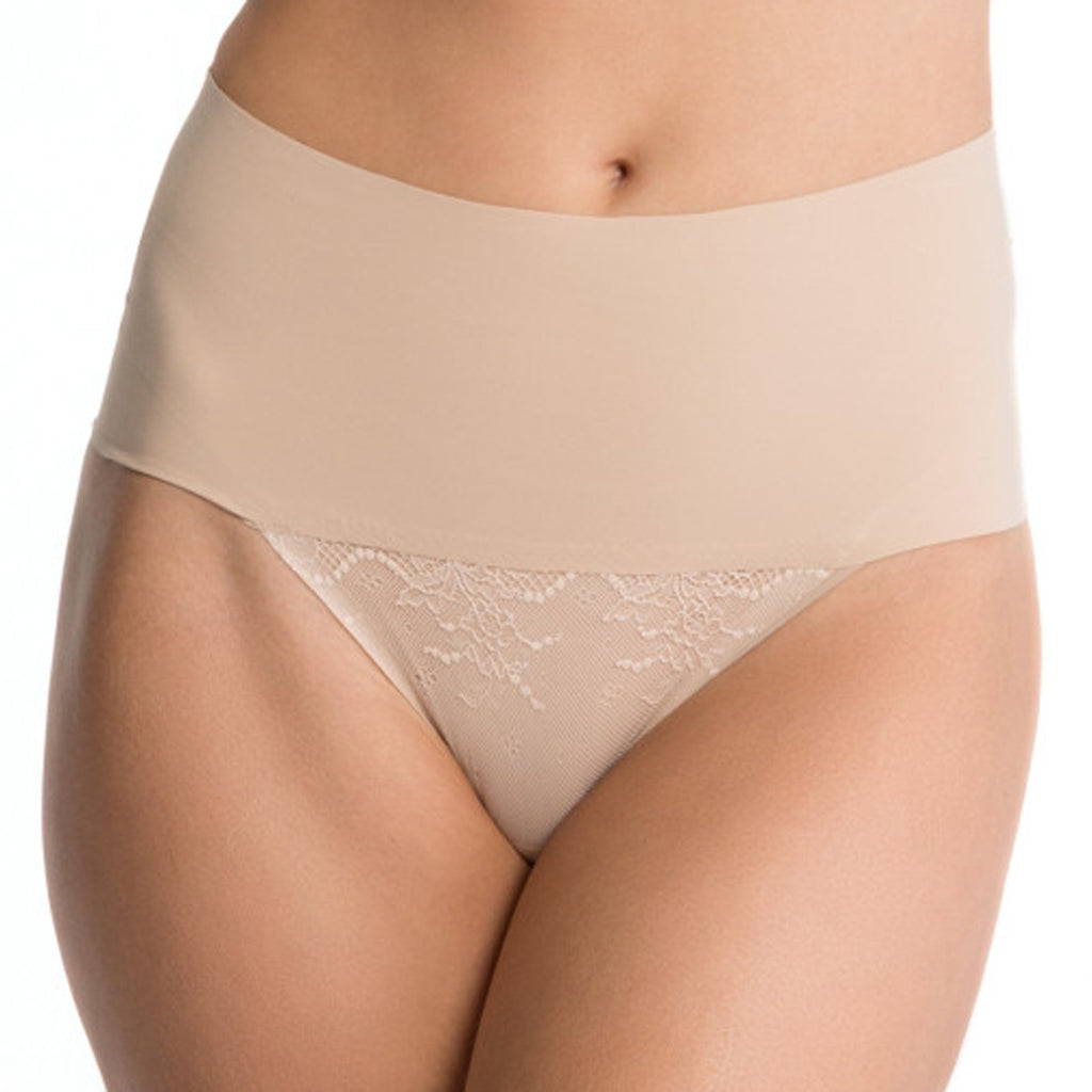Spanx Undie-Tectable Lace Thong, Soft Nude
