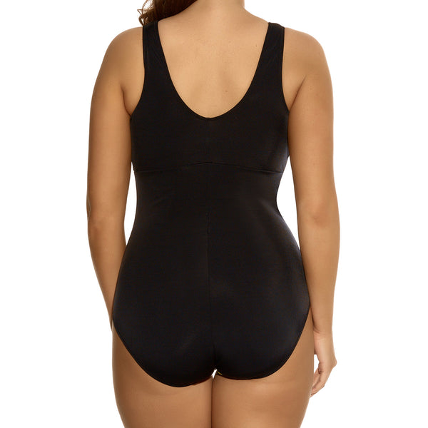 Elomi Kariba Gathered Suit, Black